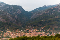Mallorca Panoramic View on Soller. City Royalty Free Stock Photo