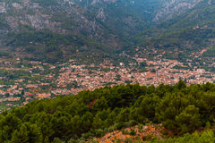 Mallorca Panoramic View on Soller City. Valley Stock Photography
