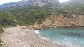 Mallorca plaża Cala D& x27; jaźnie Obrazy Stock