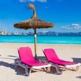 Mallorca Platja de Alcudia beach in Majorca Royalty Free Stock Images