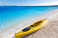 Mallorca Platja de Alcudia strand i Majorca Royaltyfri Bild
