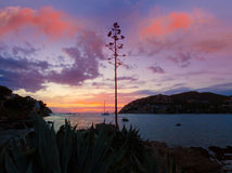 Mallorca port de Andratx sunset in Mallorca Stock Photo