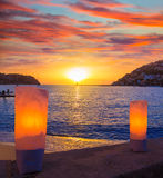Mallorca port de Andratx sunset in Mallorca. At Balearic islands of spain Stock Photos