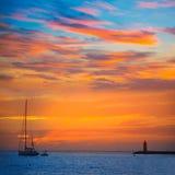 Mallorca port de Andratx sunset in Mallorca. At Balearic islands of spain Royalty Free Stock Image