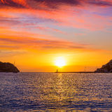 Mallorca port de Andratx sunset in Mallorca. At Balearic islands of spain Royalty Free Stock Photo