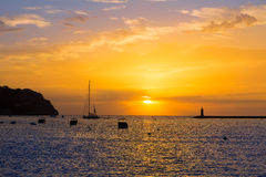 Mallorca port de Andratx sunset in Mallorca. At Balearic islands of spain Stock Images