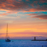 Mallorca port de Antratx sunset in Mallorca. Mallorca port de Andratx sunset in Mallorca at Balearic islands of spain Stock Image