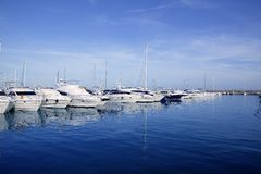 Mallorca Puerto Portals port harbor marina Spain Stock Photography