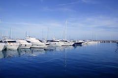 Mallorca Puerto Portals port harbor marina Spain. Mallorca Puerto Portals port harbor marina yacht in Spain Stock Photography