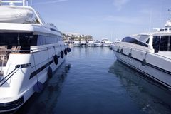 Mallorca Puerto Portals port marina yachts Stock Photos