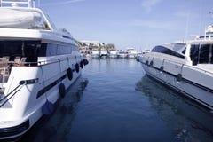 Mallorca Puerto Portals port marina yachts. In Spain Stock Photos