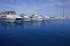 Mallorca Puerto Portals port marina yachts Stock Photography