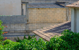 Mallorca roof detail Royalty Free Stock Photography
