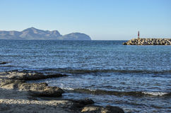 Mallorca-Seeansichtlandschaft Stockfotos
