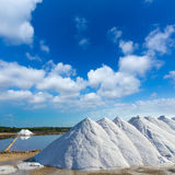 Mallorca Ses Salines Es Trenc Estrenc saltworks. In Balearic Islands Spain Stock Photos