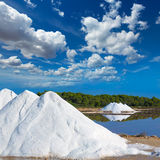 Mallorca Ses Salines Es Trenc Estrenc saltworks. In Balearic Islands Spain Stock Images