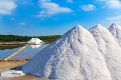 Mallorca Ses Salines Es Trenc Estrenc saltworks. In Balearic Islands Spain Stock Image