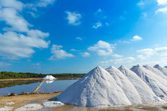 Mallorca Ses Salines Es Trenc Estrenc saltworks. In Balearic Islands Spain Royalty Free Stock Photography