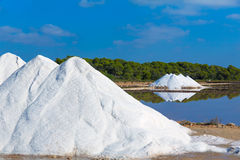 Mallorca Ses Salines Es Trenc Estrenc saltworks. In Balearic Islands Spain Royalty Free Stock Photos