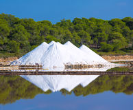 Mallorca Ses Salines Es Trenc Estrenc saltworks. In Balearic Islands Spain Royalty Free Stock Image