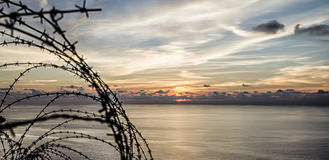 Mallorca solnedgång Arkivfoto