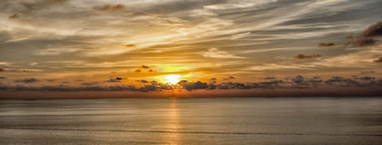Mallorca solnedgång Royaltyfria Foton