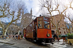 Mallorca spårvagn Royaltyfri Bild