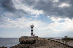 Mallorca, Spagna; 18 marzo 2018: Faro di Colonia de San Jo Fotografie Stock Libere da Diritti