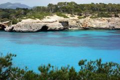 Mallorca, Spain. The azure waters of S`Amarador, Mallorca, Spain Royalty Free Stock Photography