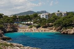 Mallorca Spain. A Beach in holiday resort, Mallorca, Spain Stock Photography