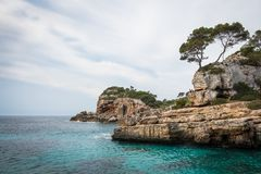 Mallorca, Spain; March 17, 2018: views of paradisiacal coves of stock image