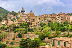 Mallorca, Spain village. Valldemossa, Mallorca, Spain town and village Royalty Free Stock Photo
