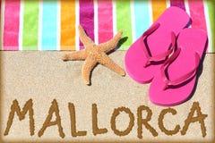 Mallorca strandlopp Arkivbild