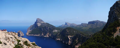 Mallorca a sunny day. In a panoramic view Stock Image