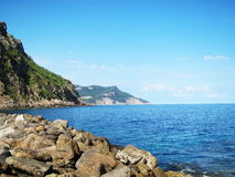 Mallorca sunny day beauty in nature water. Strong colors Royalty Free Stock Image