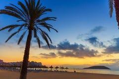 Mallorca sunrise in Magaluf Palmanova beach Stock Photos