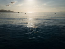 Mallorca sunrise, Playa de Muro beach in the morning Royalty Free Stock Image