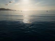 Mallorca sunrise, Playa de Muro beach in the morning. Beautiful island Majorca, Mediterranean Sea, Spain, Europe Royalty Free Stock Image