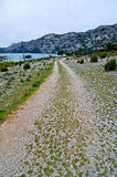 Mallorca way near the sea and mountains. Mallorca way into the mountains Stock Photography