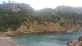 Mallorca west coast cala d& x27;egos. Panorama cala d& x27;egos Royalty Free Stock Photos