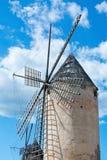 Mallorca windmill sky Royalty Free Stock Photos