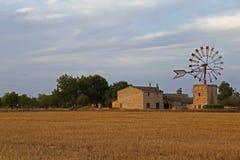Mallorca windmill Stock Image