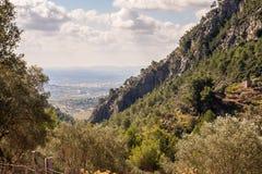 Mallorcan city of Inca. Seen through mountains Royalty Free Stock Photography