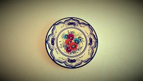 Mallorcan Decorative Wall Plate. Decorative Mallorcan wall plate, hand - made, beautiful and vintage Stock Image