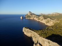 Mallorcan kust arkivfoto