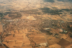 Mallorcan village. Aerial view of the Mallorcan village Stock Photo