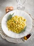 Malloreddus pasta with mozzarella Royalty Free Stock Image