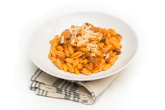 Malloreddus with ragout and cheese Stock Photography