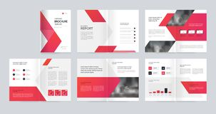 Mallorienteringsdesign med räkningssidan för företagsprofilen, årsrapport, broschyrer, förslag, reklamblad, broschyr, tidskrift,  royaltyfri illustrationer