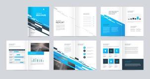 Mallorienteringsdesign med räkningssidan för företagsprofilen, årsrapport, broschyrer, förslag, reklamblad, broschyr, tidskrift,  stock illustrationer